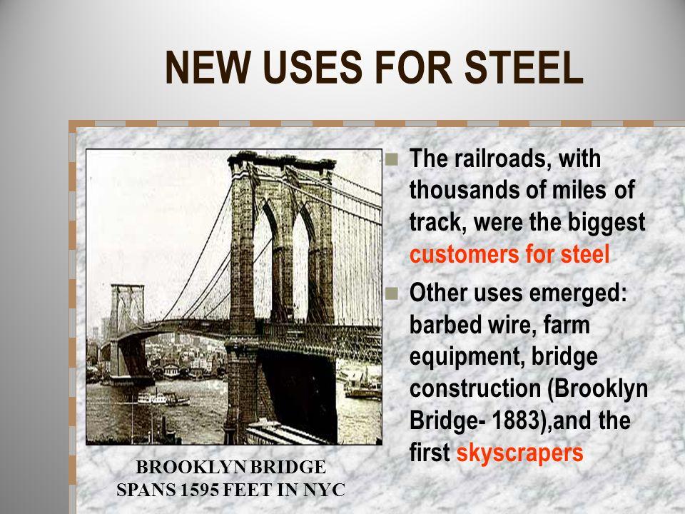 BROOKLYN BRIDGE SPANS 1595 FEET IN NYC