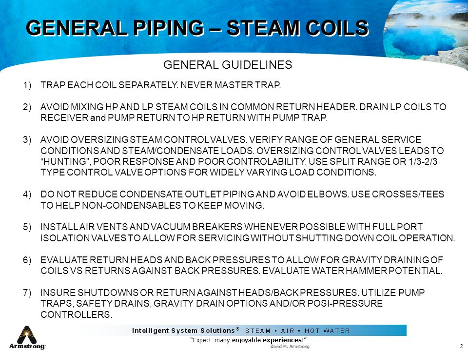 GENERAL PIPING – STEAM COILS