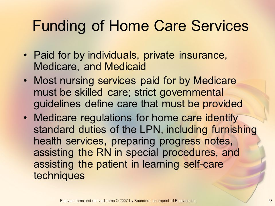 Funding of Home Care Services
