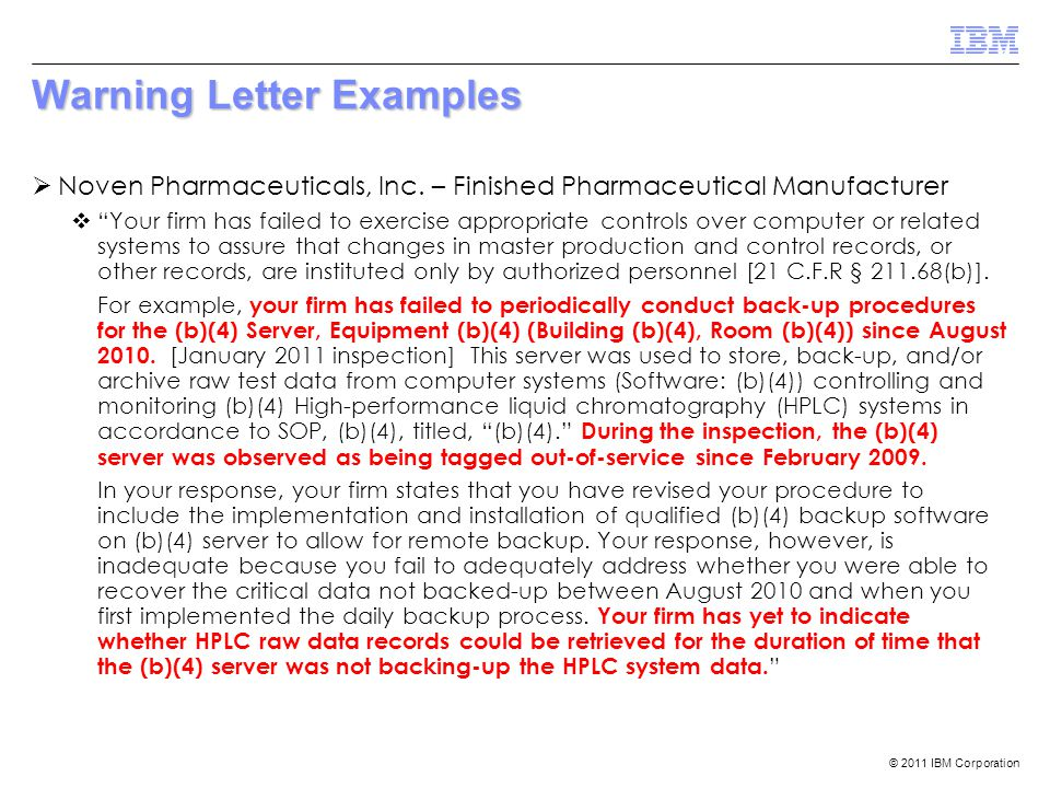 Warning Letter Examples
