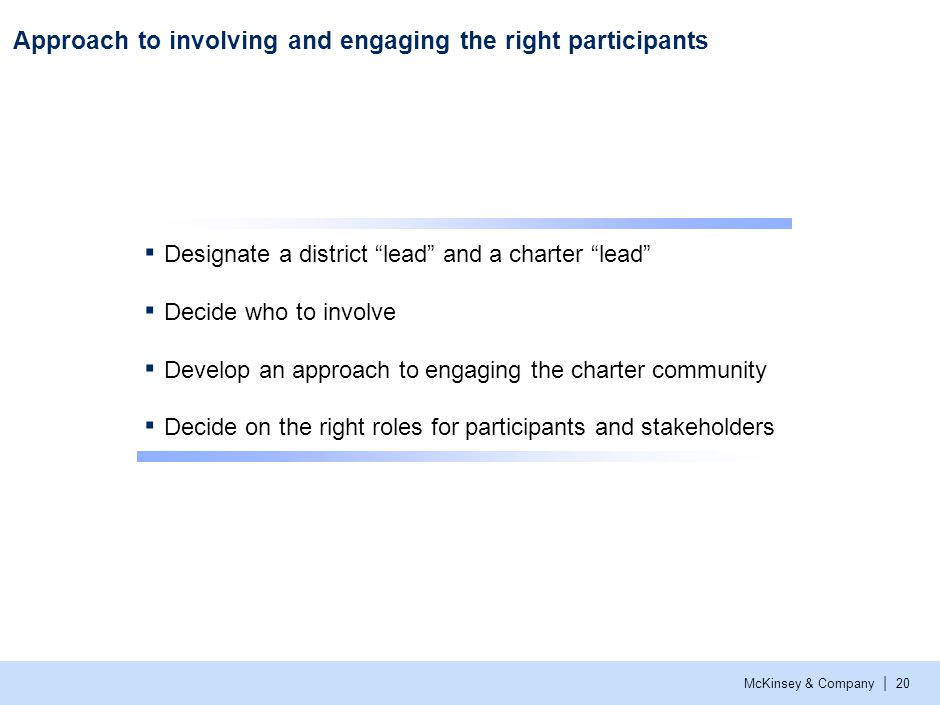 Designate a district lead and a charter lead