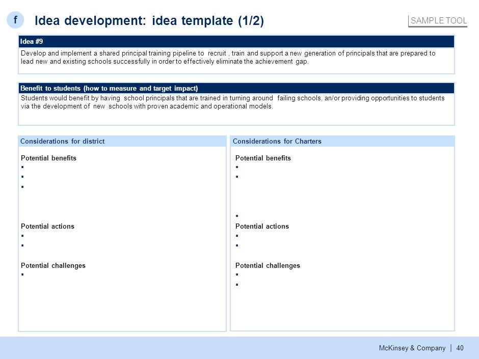 Idea development: idea template (2/2)
