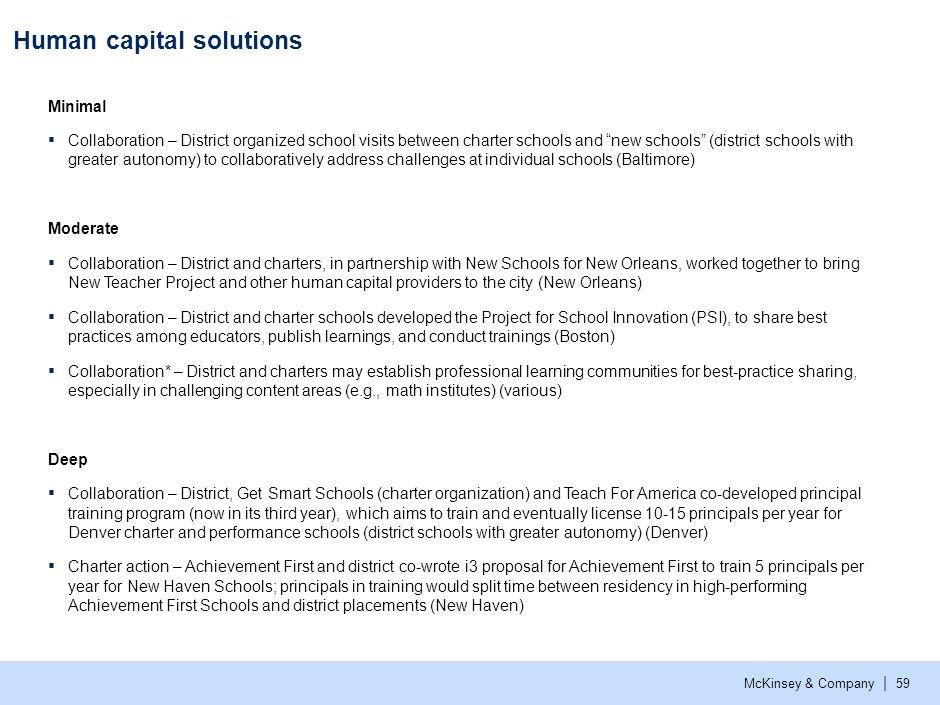 Human capital solutions (cont.)