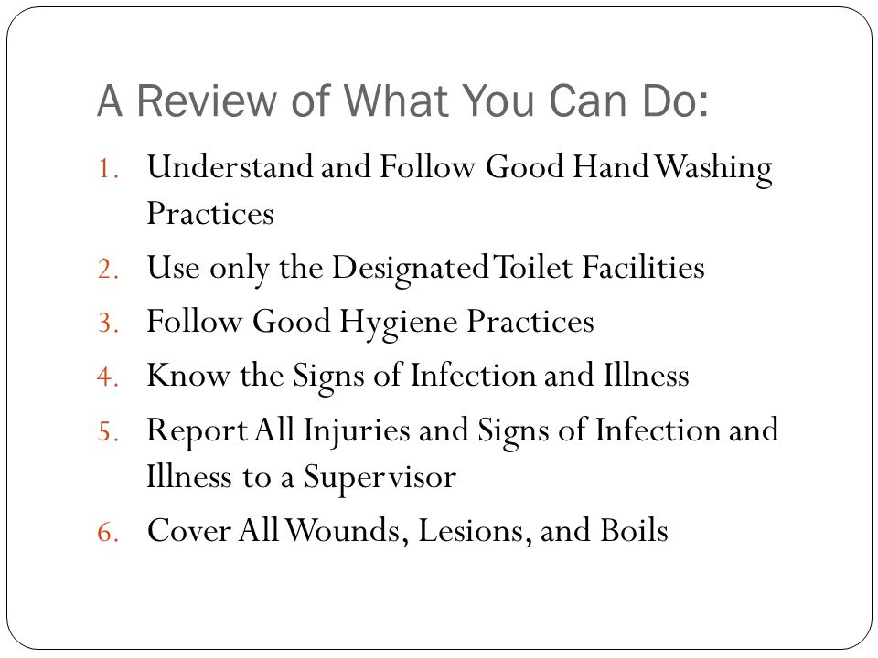 A Review of What You Can Do:
