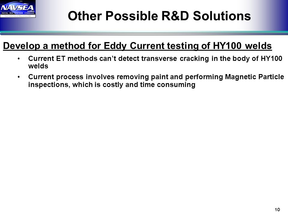 Other Possible R&D Solutions