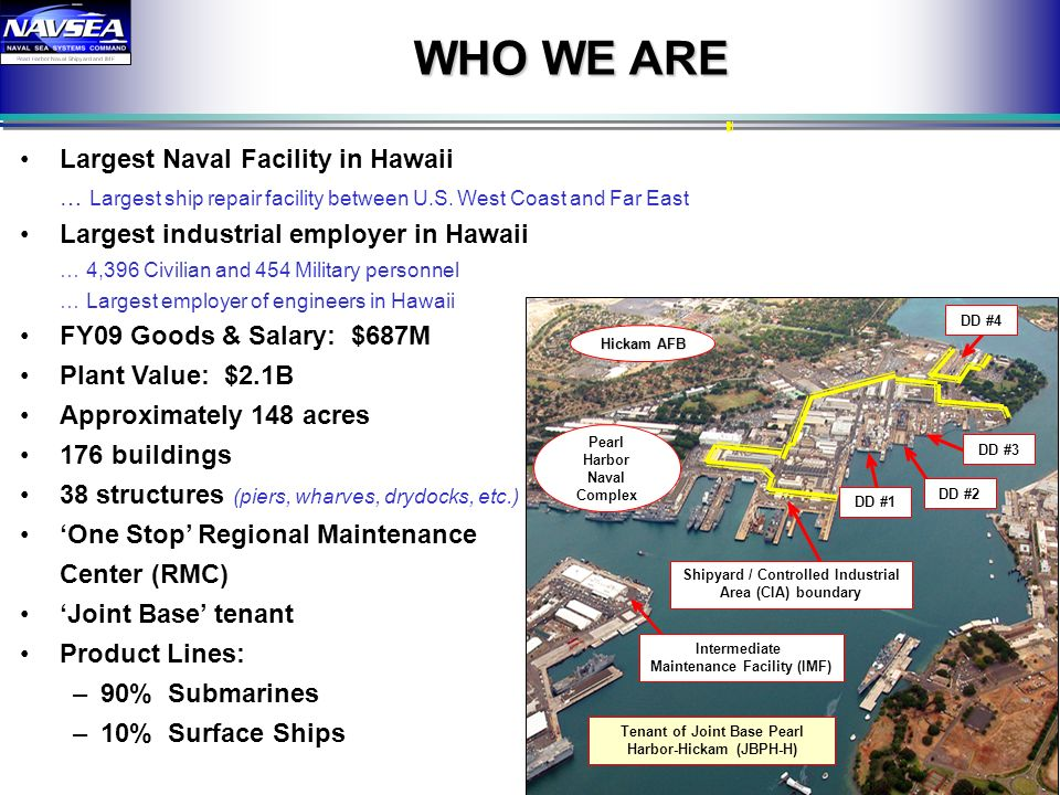 WHO WE ARE Largest Naval Facility in Hawaii