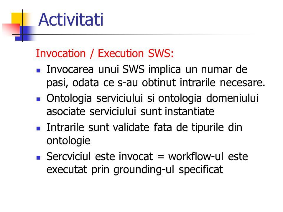 Activitati Invocation / Execution SWS:
