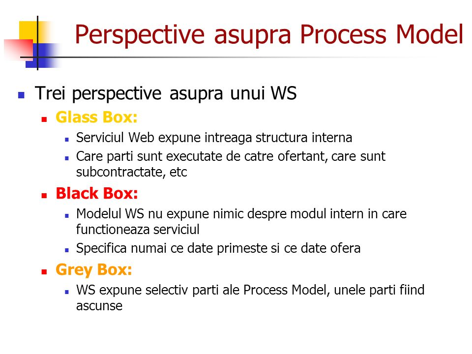 Perspective asupra Process Model