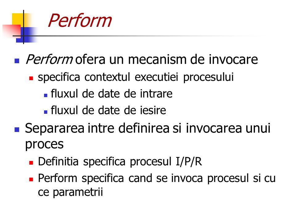 Perform Perform ofera un mecanism de invocare