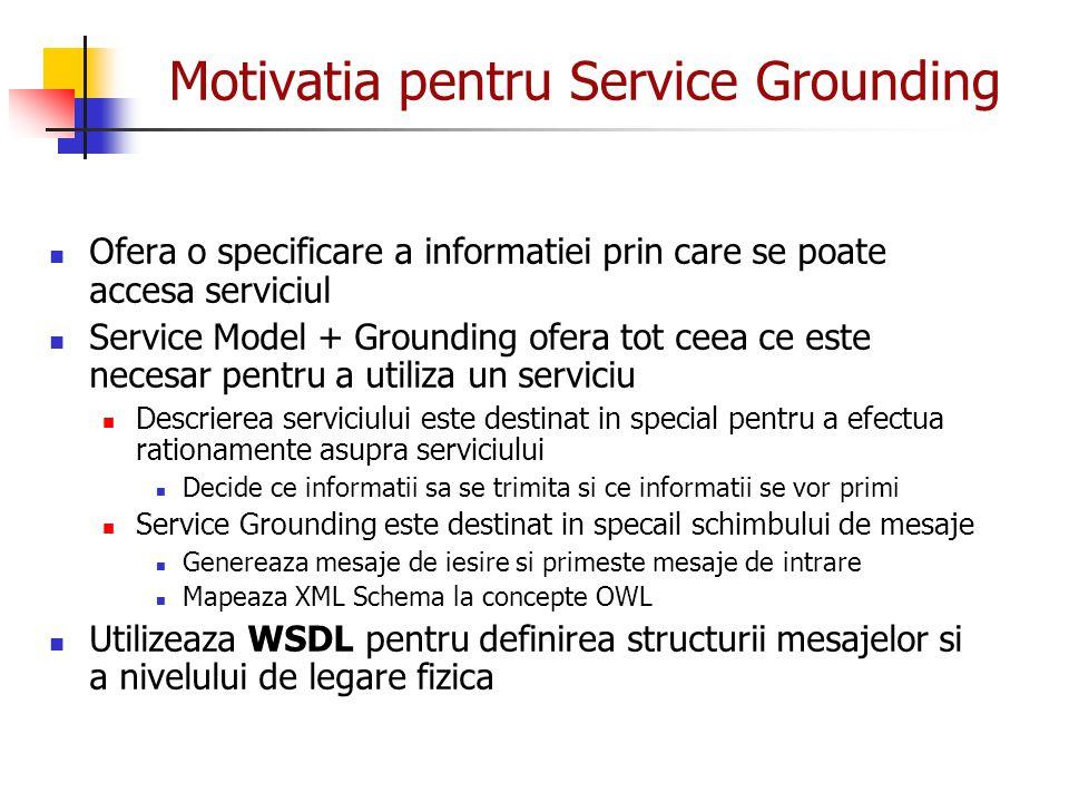Motivatia pentru Service Grounding
