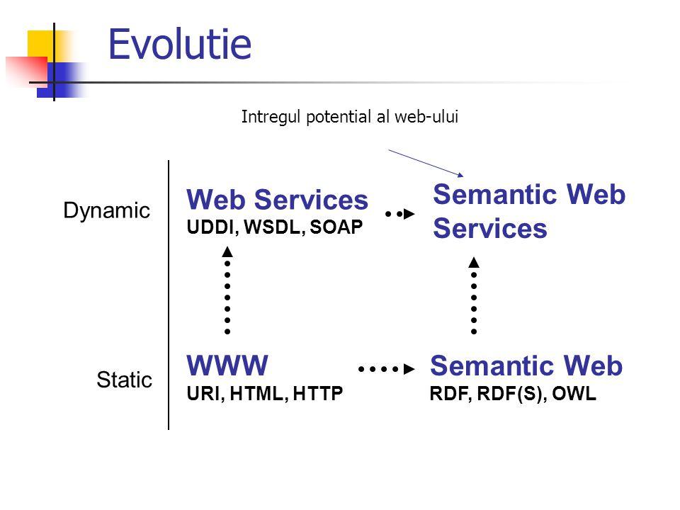 Evolutie Semantic Web Services Web Services WWW Semantic Web Dynamic