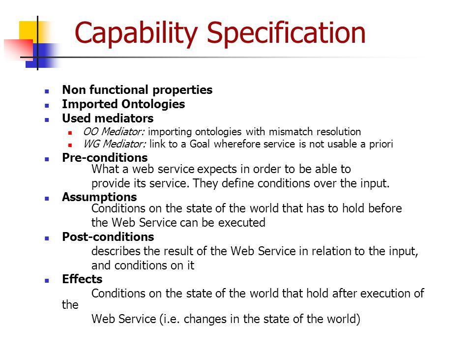 Capability Specification