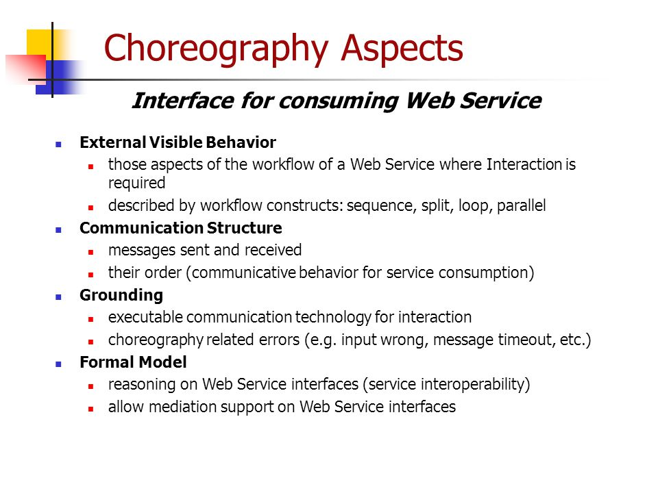 Interface for consuming Web Service