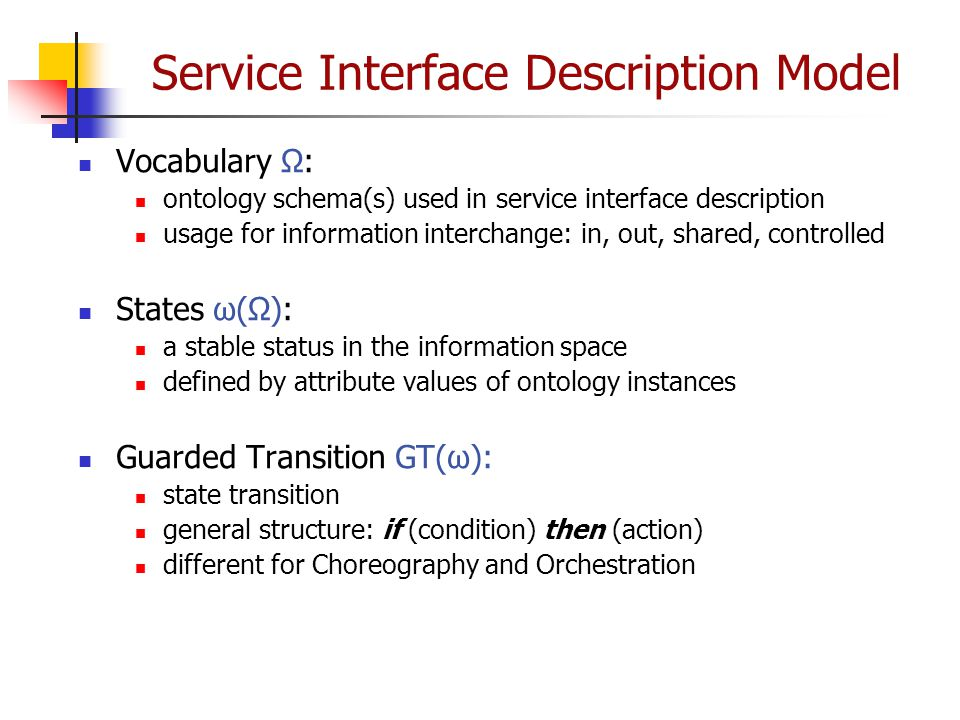Service Interface Description Model