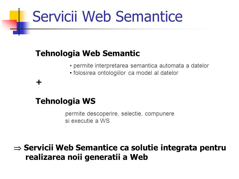 Servicii Web Semantice