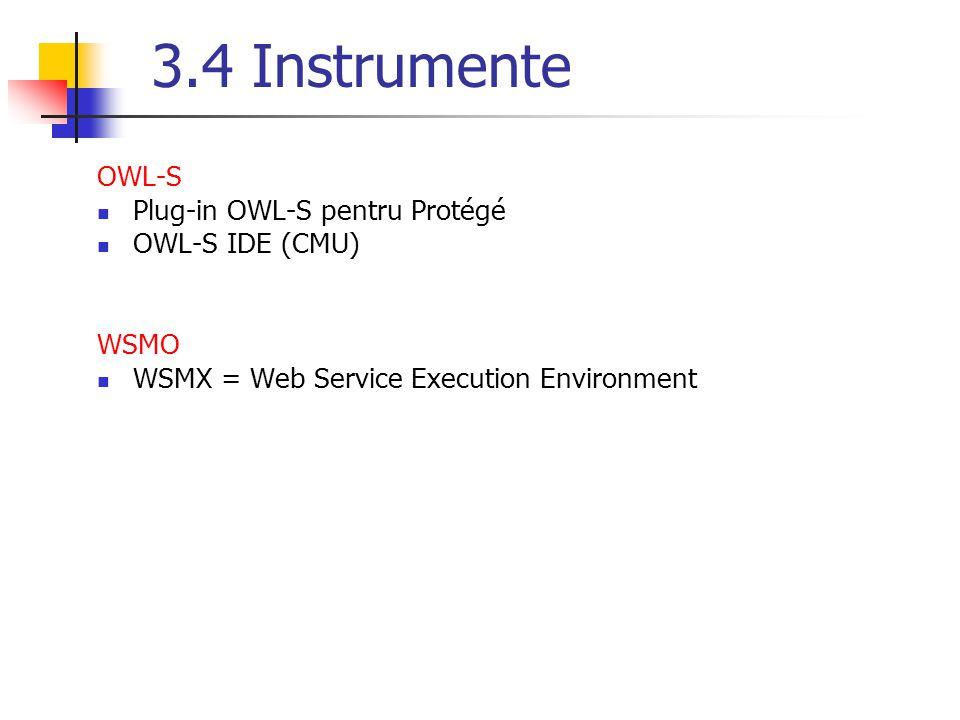 3.4 Instrumente OWL-S Plug-in OWL-S pentru Protégé OWL-S IDE (CMU)