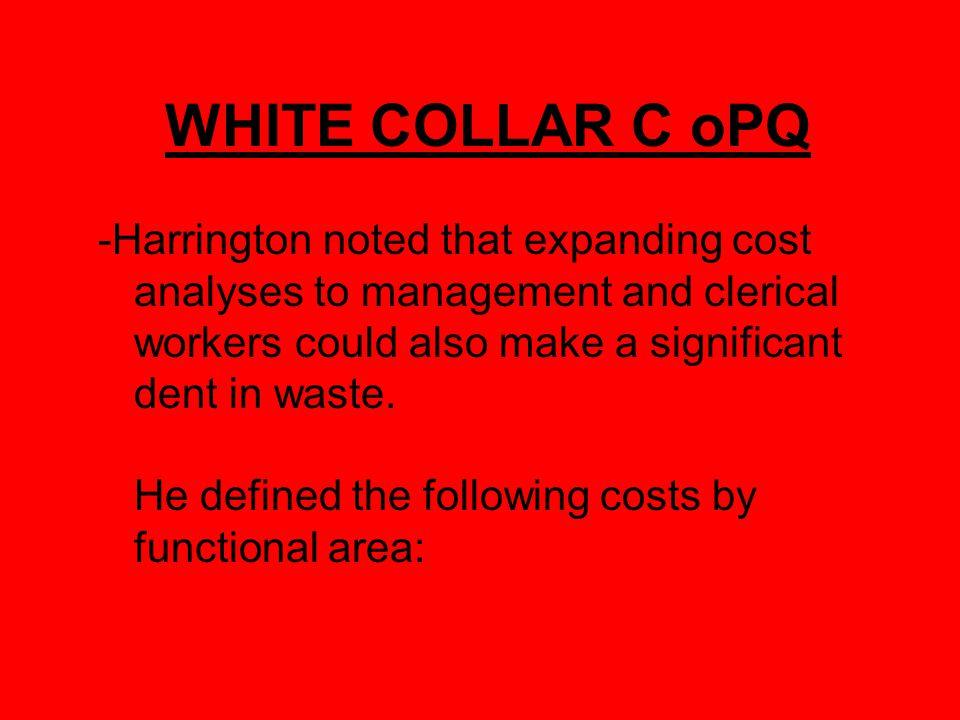 WHITE COLLAR C oPQ