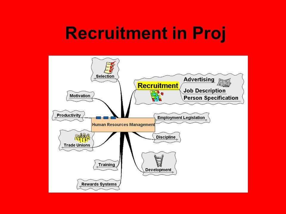 Recruitment in Proj