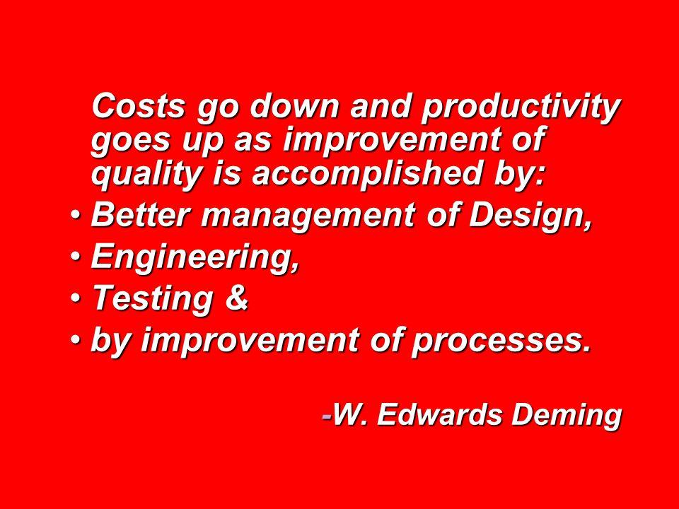 Better management of Design, Engineering, Testing &