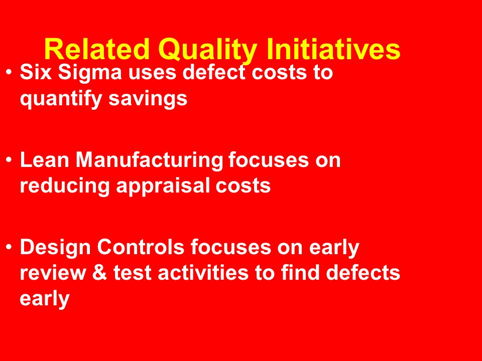 Related Quality Initiatives