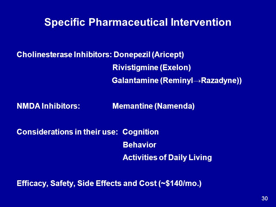 Specific Pharmaceutical Intervention