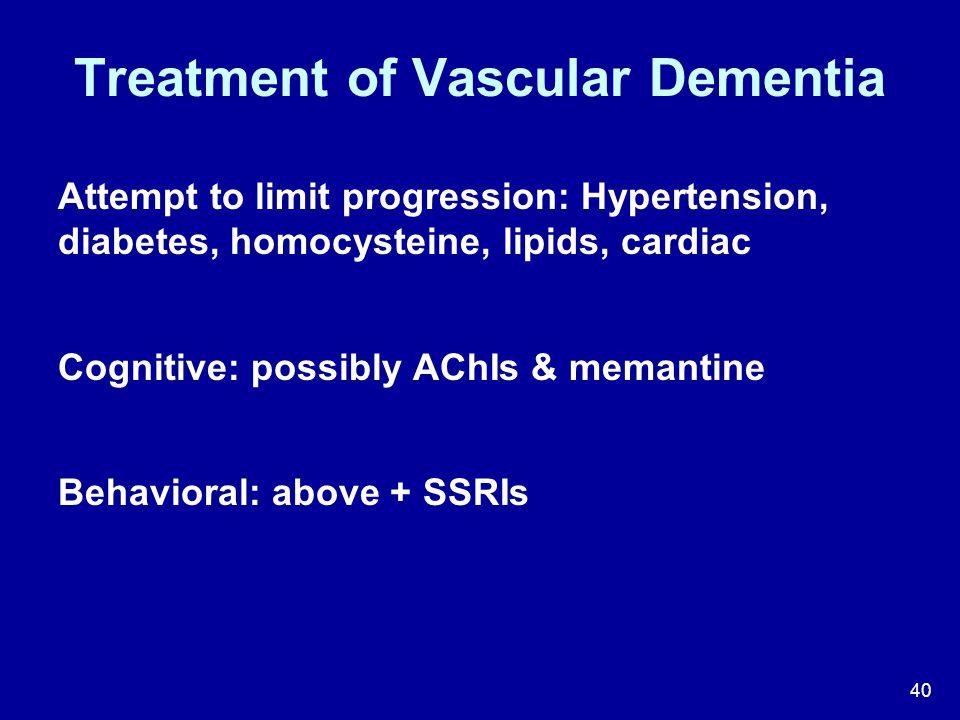 Treatment of Vascular Dementia