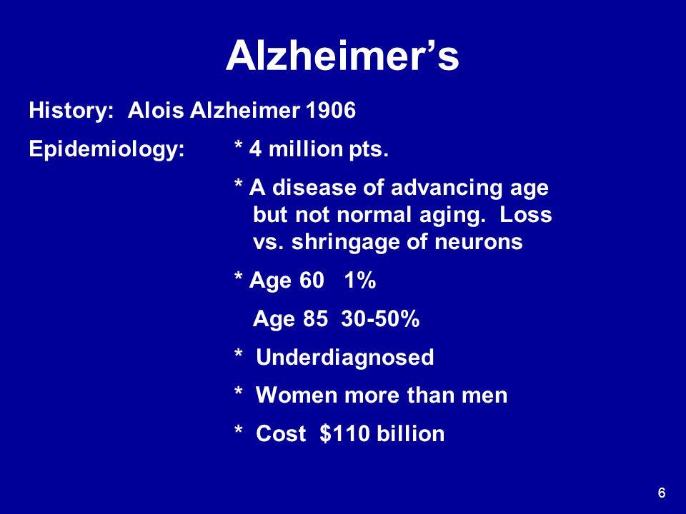 Alzheimer's History: Alois Alzheimer 1906