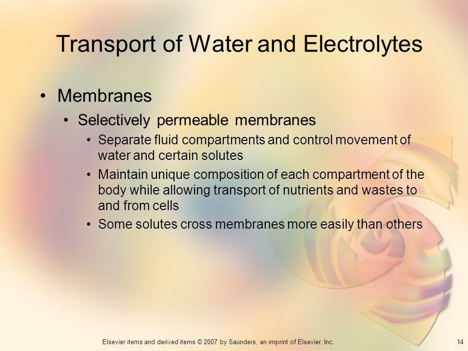Transport of Water and Electrolytes