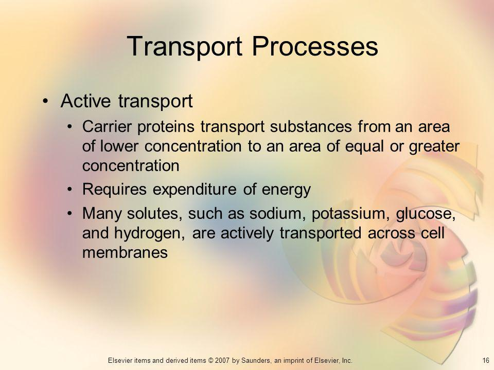 Transport Processes Active transport