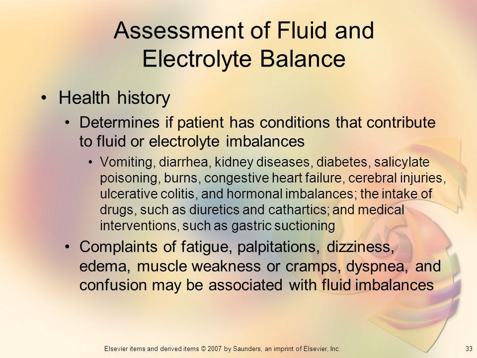 Assessment of Fluid and Electrolyte Balance