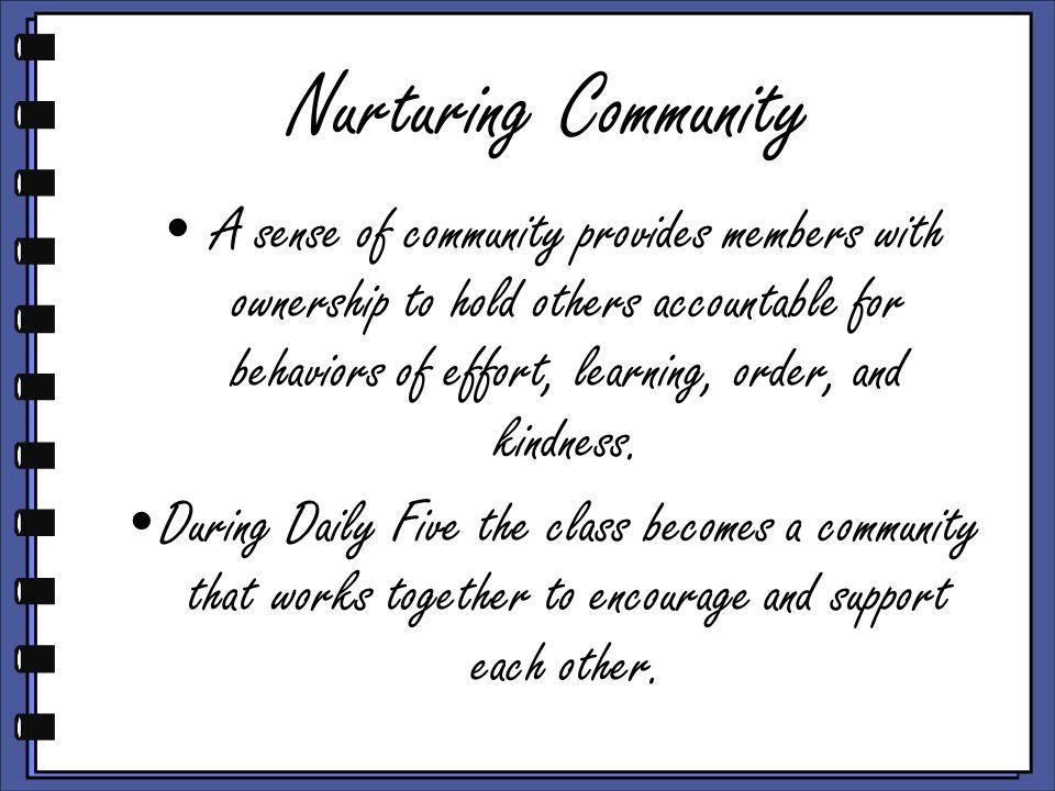 Nurturing Community