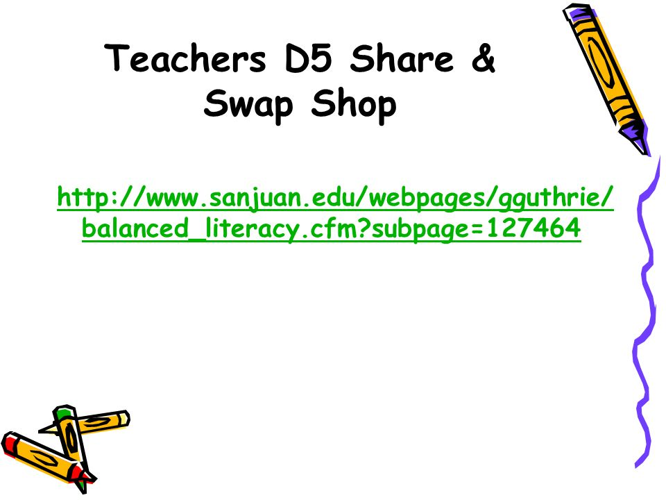 Teachers D5 Share & Swap Shop