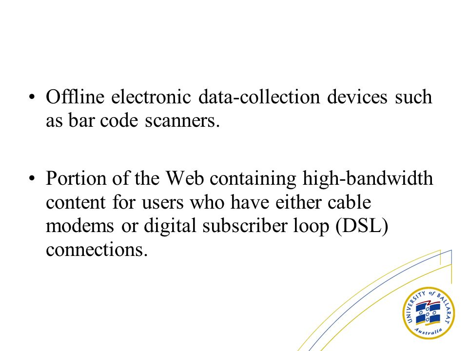 Offline electronic data-collection devices such as bar code scanners.