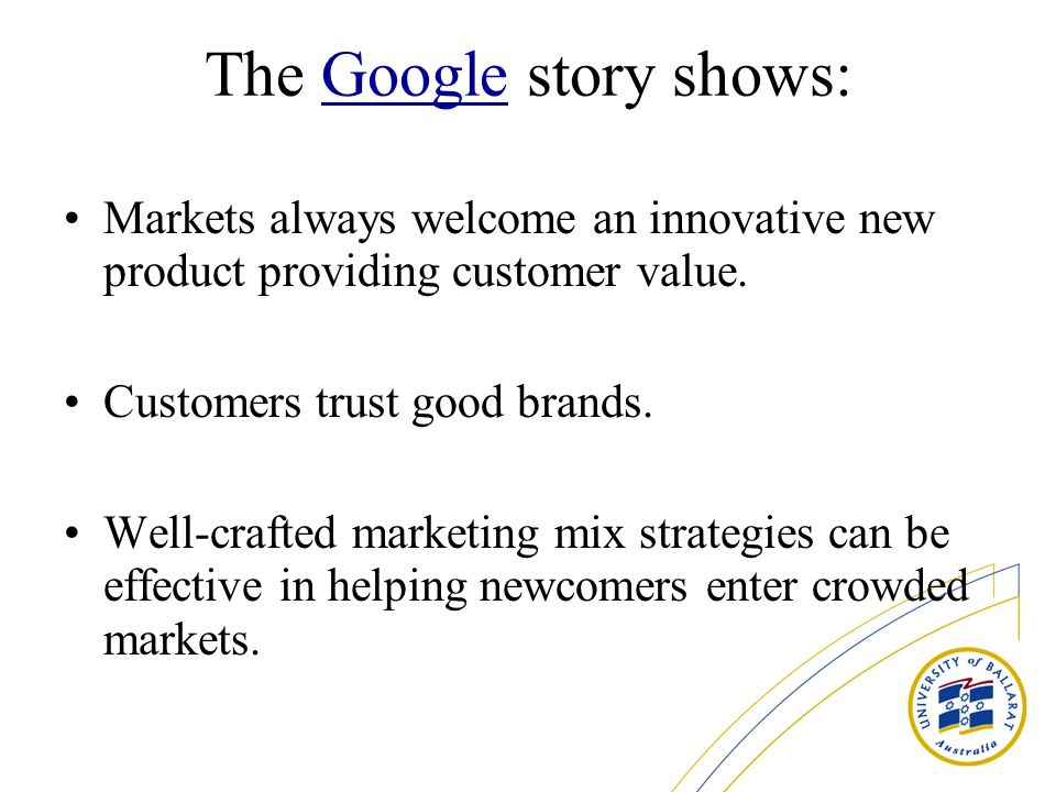The Google story shows:
