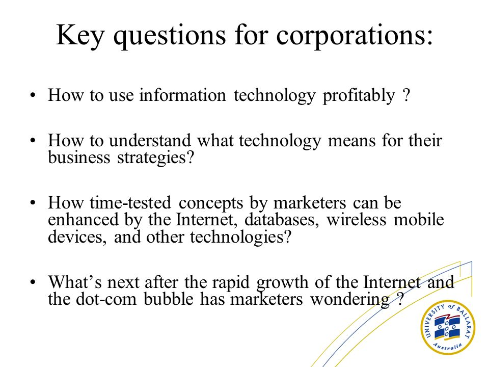 Key questions for corporations: