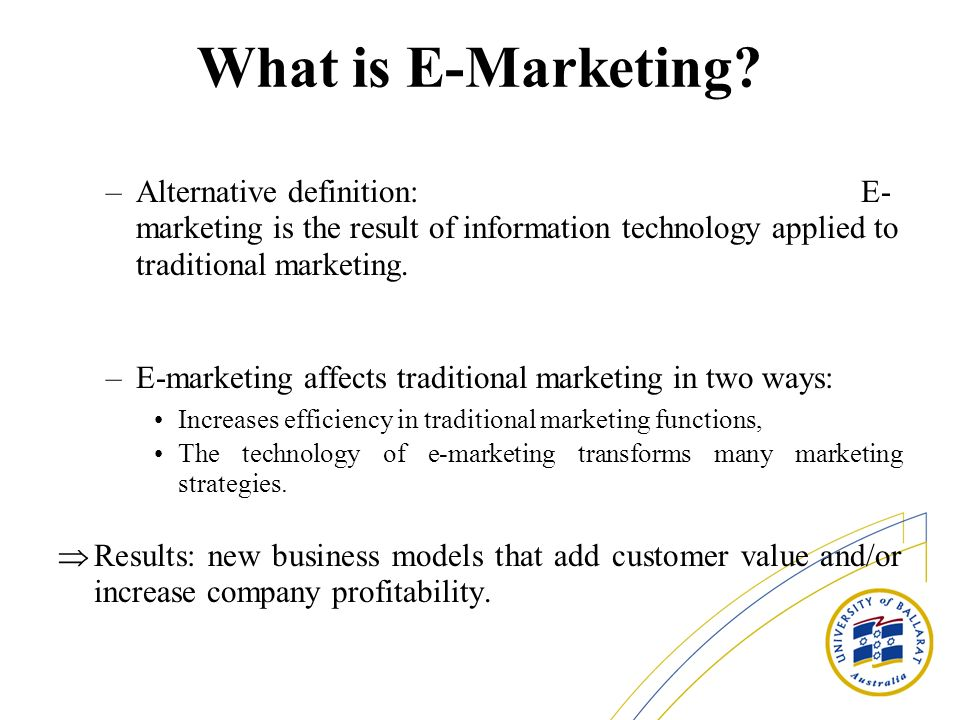 What is E-Marketing
