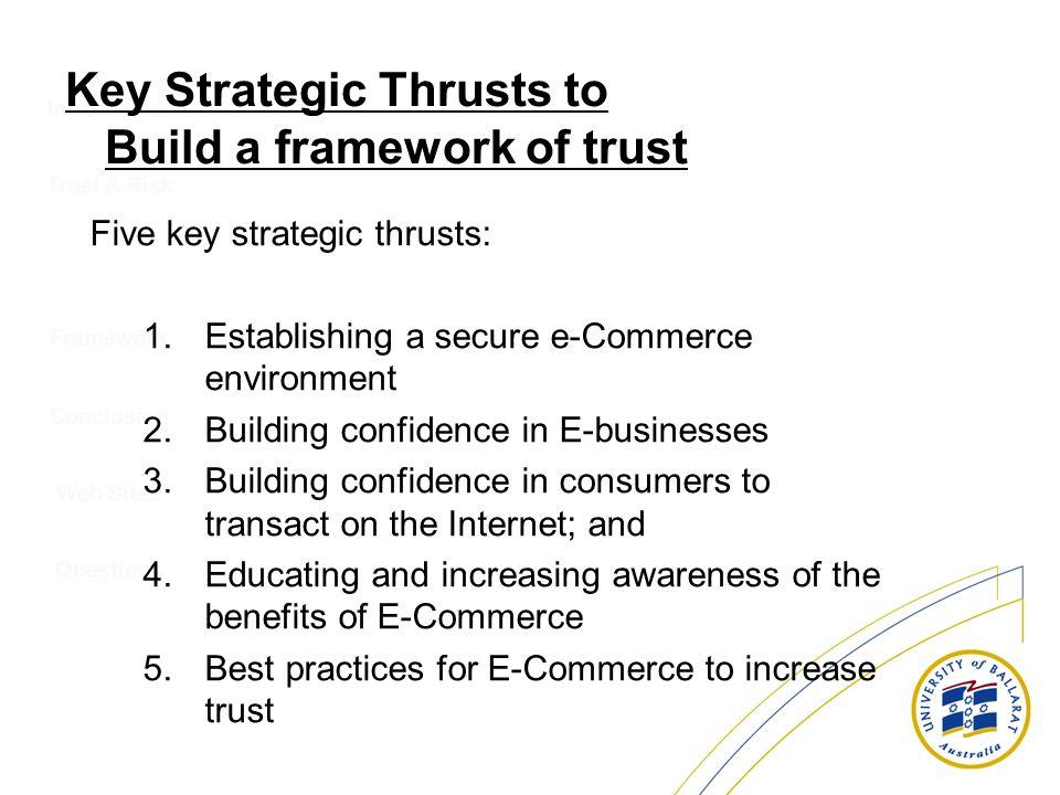 Key Strategic Thrusts to Build a framework of trust