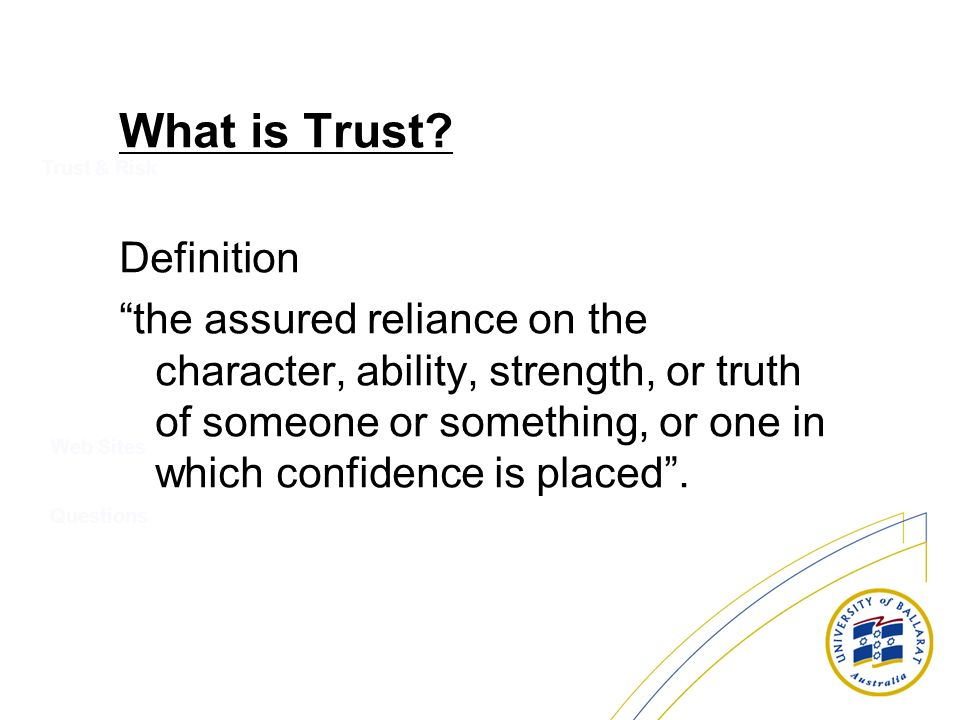 What is Trust Definition