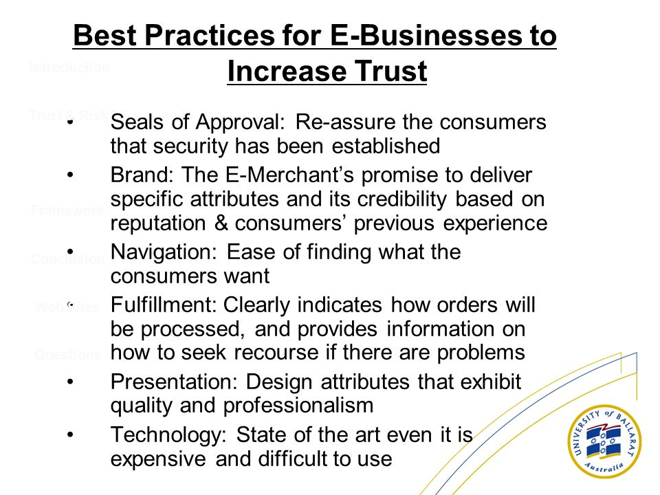 Best Practices for E-Businesses to Increase Trust