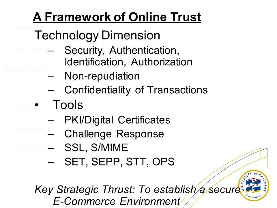 A Framework of Online Trust