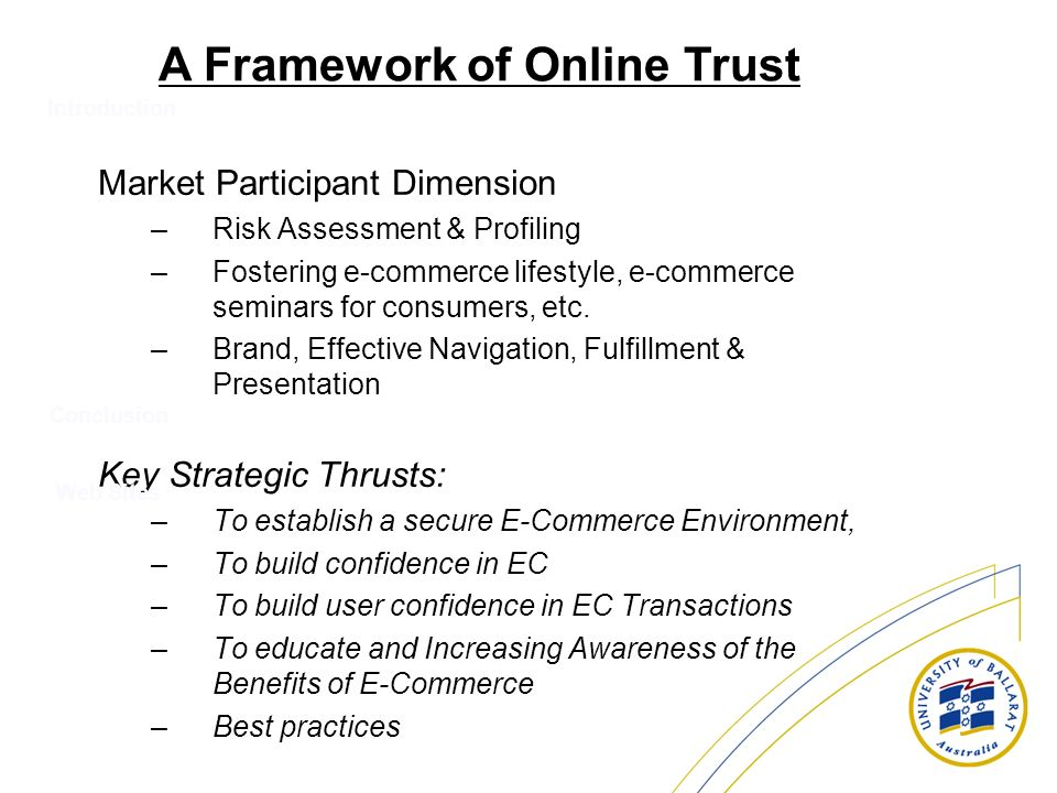Trust in e commerce topic 9 ppt video online download for Lifestyle e commerce