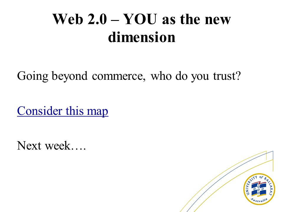 Web 2.0 – YOU as the new dimension
