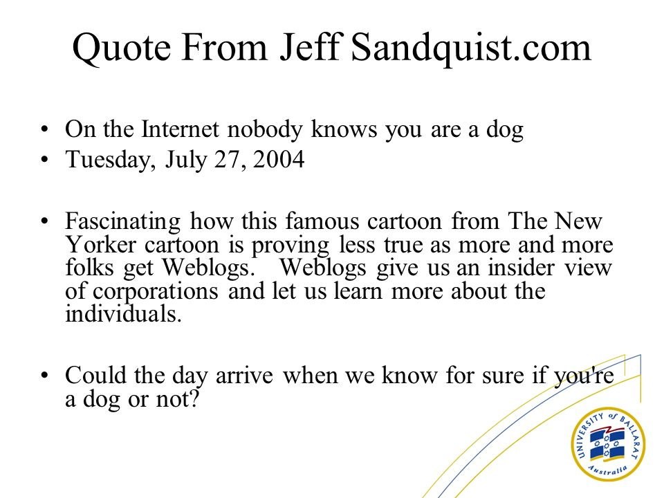 Quote From Jeff Sandquist.com