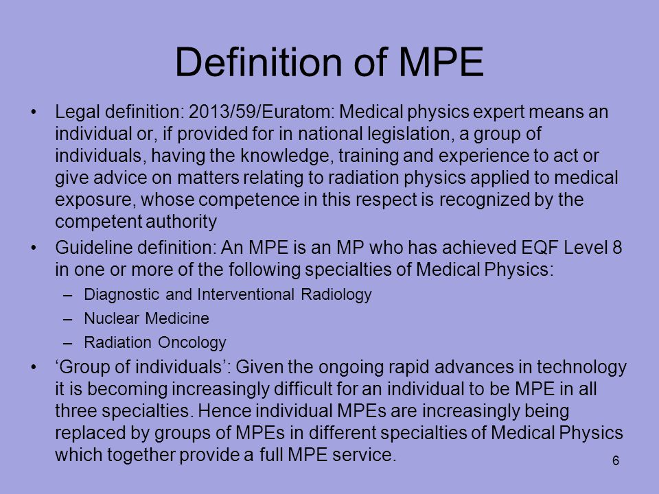 Definition of MPE