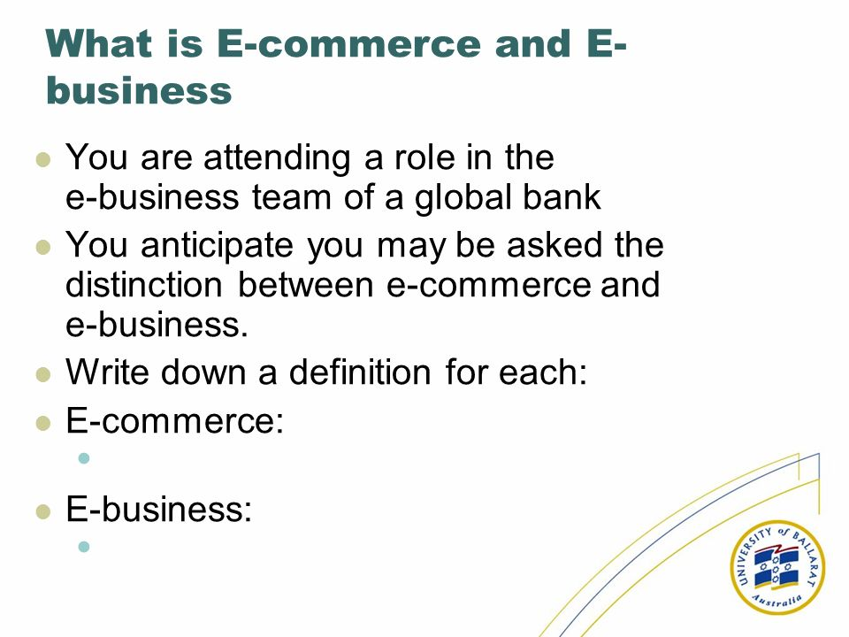 What is E-commerce and E-business