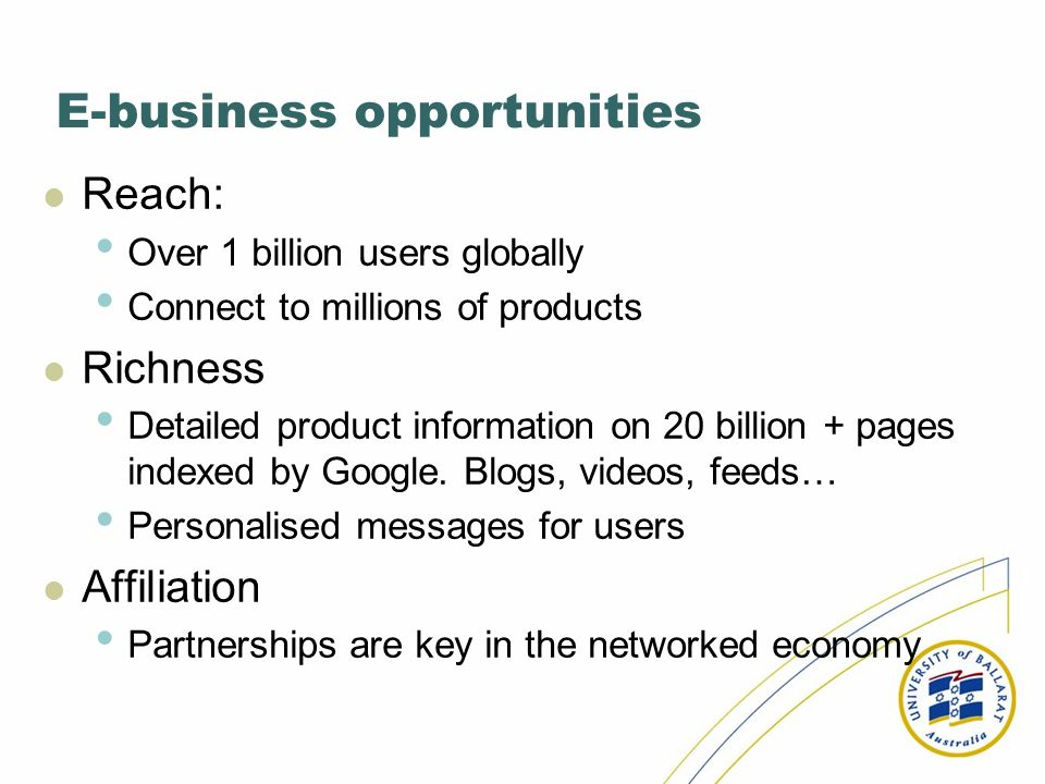 E-business opportunities