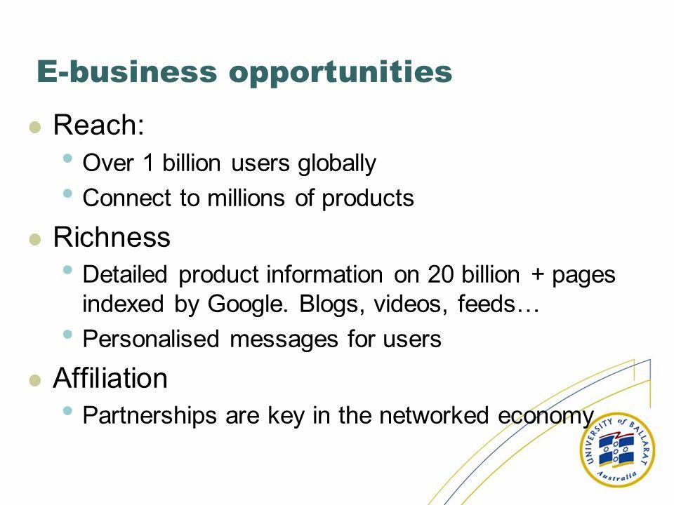 E-business opportunities