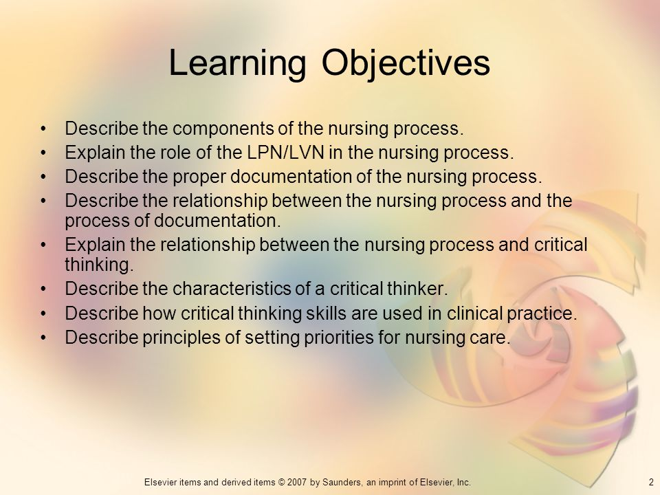 Descriptive dissertation application of nursing process