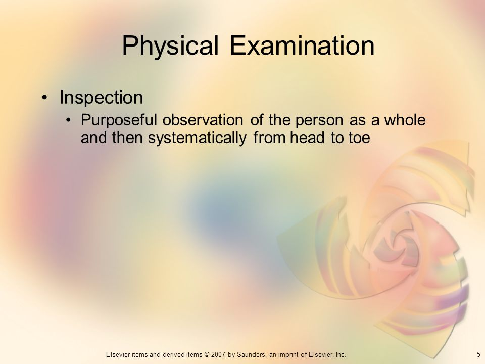 Physical Examination Inspection