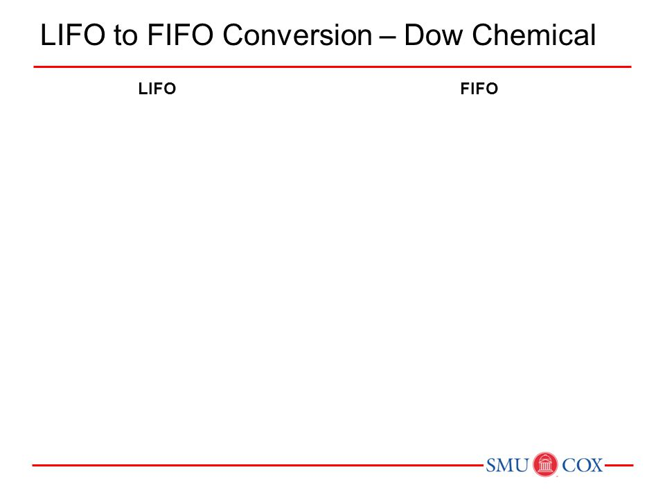LIFO to FIFO Conversion – Dow Chemical